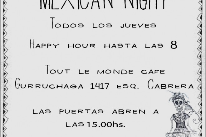 Thursday Mexican Pop-Ups