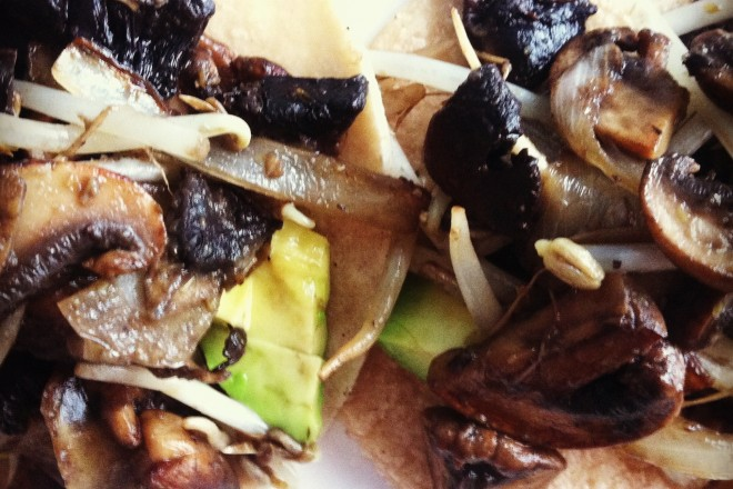 mushroom & sprout TACOS