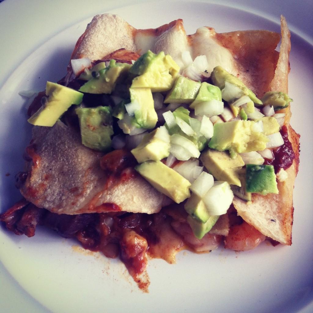 SURF 'N TURF ENCHILADAS, guajillo & ancho salsa