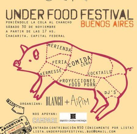 UNDER Food Festival, Saturday Nov 30