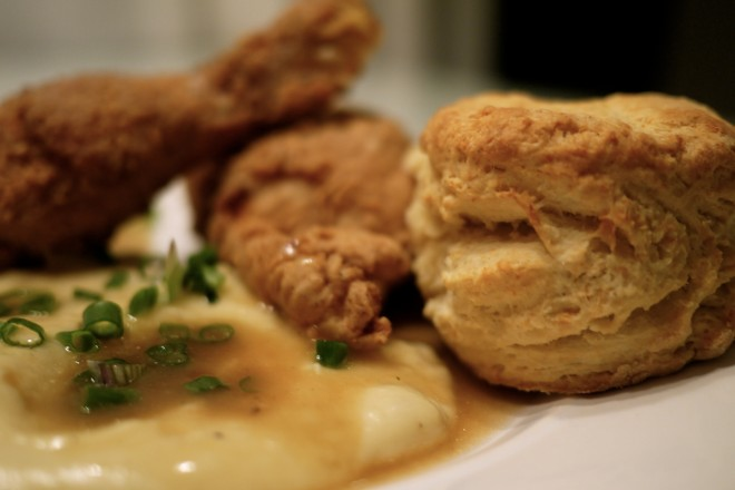fried chicken & biscuits every Thursday during February & March at NOLA